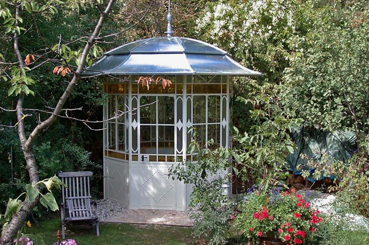 jugendstil pavillon nostalgische metall pavillons. Black Bedroom Furniture Sets. Home Design Ideas